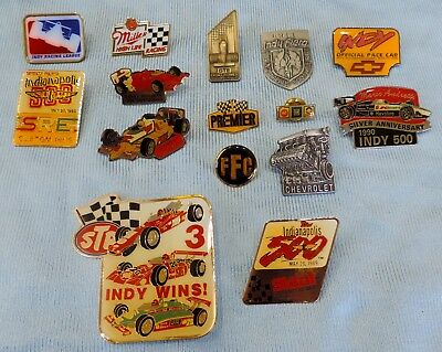 Indy 500 Indy Car Mario Andretti Danny Sullivan 15pc Hat Pin Collection