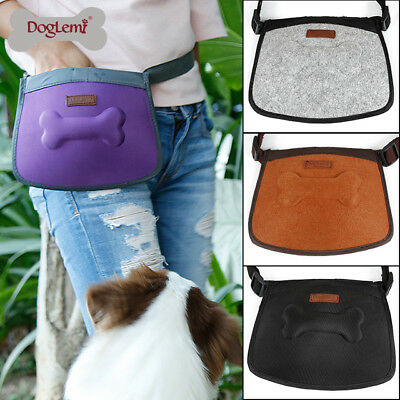 Dog Treat Bag Pouch Dispenser Belt Bum Poop Bag Holder Training Puppy Waterproof