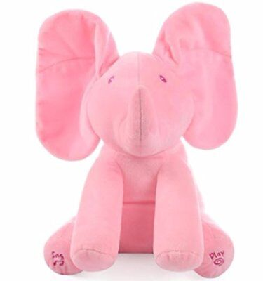 Peek-a-Boo Animated Talking and Singing  Elephant Stuffed Doll Toy For Baby new