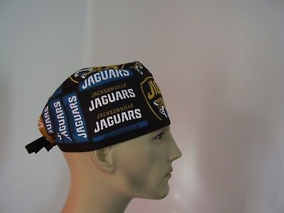 Surgical Scrub Hat/Cap -NFL JACKSONVILLE JAGUARS (block) - One size- Men Women
