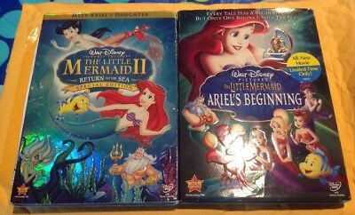 Disney The Little Mermaid II Return to the Sea & Ariels Beginning DVD Lot