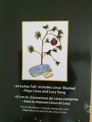 24 Inch Peanuts Charlie Brown Christmas Tree with Linus Blanket and Ornament