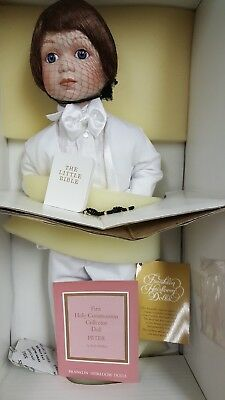 Franklin mint heirloom dolls, NEW, First Communion Doll Collector Peter