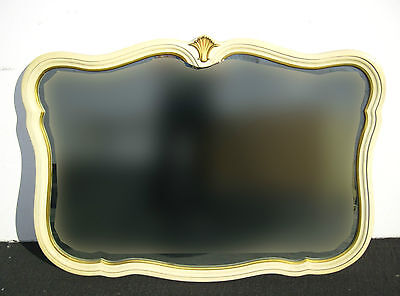 Vintage Large French Provincial Kent Coffee WALL MIRROR Cream Color Chic Shabby