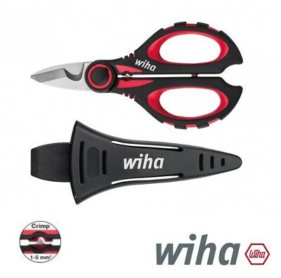 WIHA SHEARS SCISSORS Cable Skinning / Stripper with Crimp Function (41923)