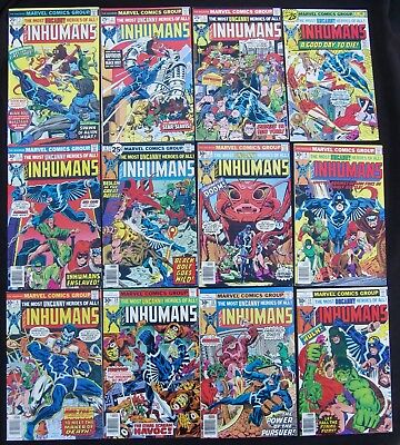 INHUMANS 1 2 3 4 5 6 7 8 9 10 11 12 COMPLETE (Marvel 1975-77) TV - 9.0 VF/NM
