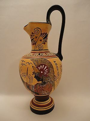 Goddess Athena Poseidon Rare Ancient Greek Art Pottery Vase Hydria Hand Painted