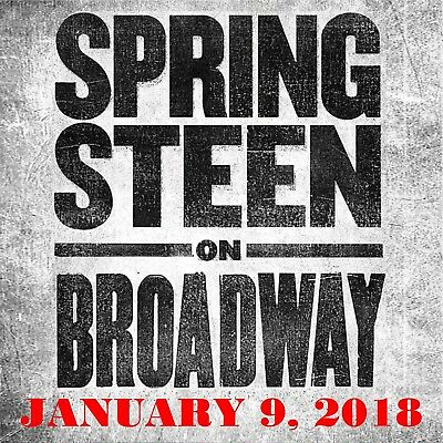 Bruce Springsteen - Springsteen On Broadway - January 9, 2018  2-CD  Full Show!!