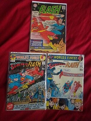 The Flash #175, Worlds finest 198,199 (Dec 1967, DC)