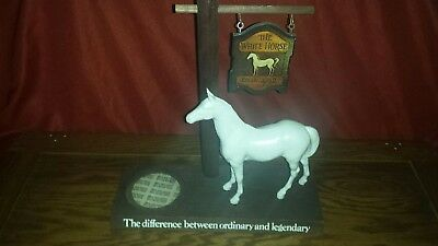 1950's, White Horse wooden whiskey sign