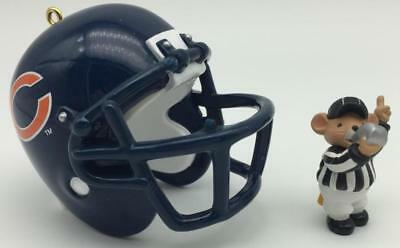 1998 The Chicago Bears Hallmark Ornament NFL Collection Football Helmet