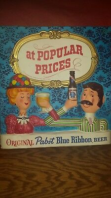 1950s Pabst Blue Ribbon sign