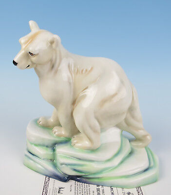 Rare Large Royal Doulton Polar Bear & Cub HN 4178 Figurine LE 200 COA Signed