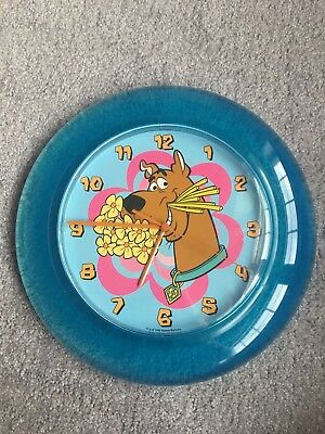 1999 Hanna-Barbera Aqua Scooby Doo Wall Clock Working