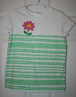 Hanna Andersson Girls Sz 130 Shirt Top w/ Flower
