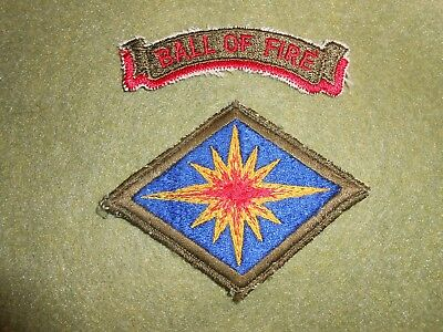 Korean War 40th Division Patch, with repro tab