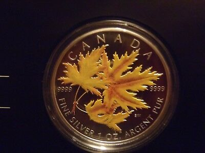 2006 $5  Silver Maple Leaf Coloured coin 1 Oz 999.9