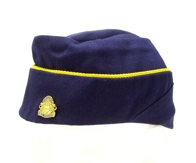 Vtg Boy Scout Cub Scout Den Mother Hat Blue Cap, Womens Size 21-1/2 No.827 & Pin