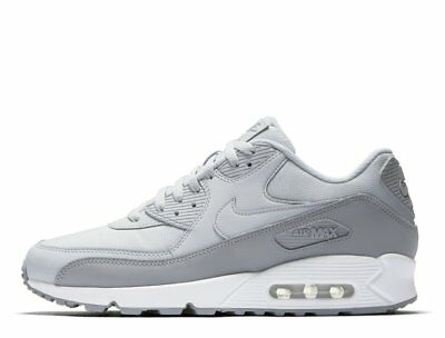 the best attitude af045 fc377 NIKE AIR MAX 90 Mens 537384-088 White Cool Platinum Grey Am90 Am95 Retro Og  New