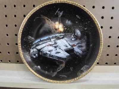 Star Wars Hamilton Plate Collection Millennium Falcon Space Vehicles #14910 1994