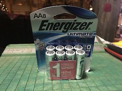 8-Energizer Ultimate Lithium AA Batteries- Exp 2037  $$$FREE SHIPPING$$$
