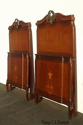 Pair Antique Federal Style Twin Headboards & Footboard BEDS ~ French Provincial