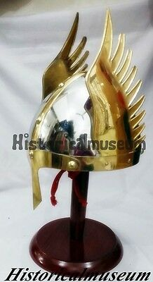 Medieval Knight Viking Armour Helmet Winged Norman King Sca- Costumes Asd5Fg6H S