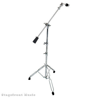 Cymbal Stand With Boom Arm Pro Heavy Duty Double Braced Legs Weighted Boom Arm