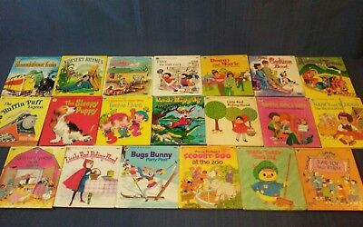 Vintage Lot of 21 Childrens Whitman Tell-a-Tale Books,