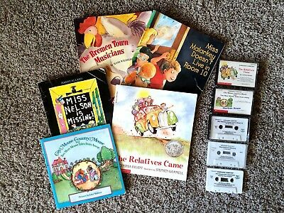 Children's Listening Centers  Lot of 5 Books and Cassette Tapes
