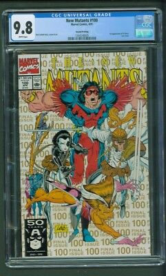 New Mutants 100 CGC 9.8 Second 2nd Printing Gold Ink Last Issue 1st app. X-Force