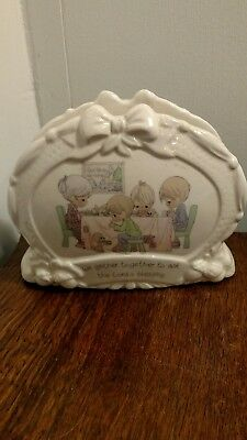 "Precious Moments Napkin Holder""We gather together."