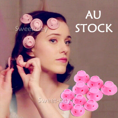 20PCS Silicone No Heat Hair Curlers Set Kit Magic Soft Rollers Hair Care DIY AU