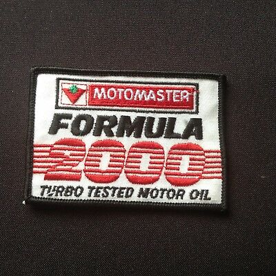 Vintage Canadian Tire Motomaster Formula 2000 Turbo Tested Oil Patch Badge