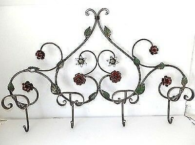Coat hangers CLOTHES HOOK wrought iron rose 4 PLACES various colours indoor