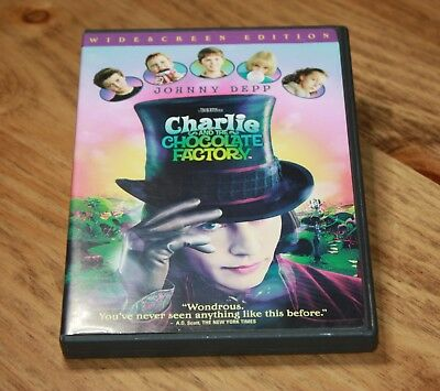CHARLIE AND THE CHOCOLATE FACTORY FACTORY (DVD, 2005, Widescreen) FAMILY MOVIE