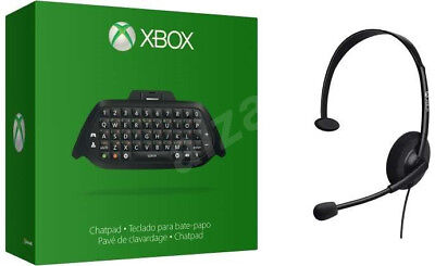 Original Microsoft Xbox One Chatpad mit Headset - Neu - Deutsches Layout - OVP