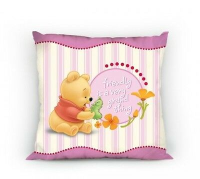 NEW DISNEY WINNIE THE POOH cushion cover 30x30cm pillow case baby pink