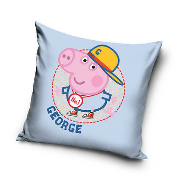 NEW LICENSED GEORGE PIG No. 1 Peppa Pig cushion cover 40x40cm 100% COTTON