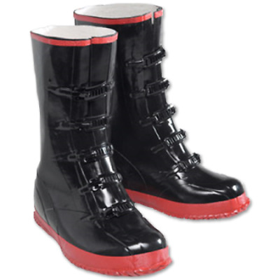 NEW Black 5-Buckle Over Shoe Rubber Slush Boots Size 8-16  - Free US Shipping