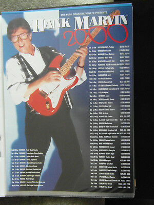 Hank Marvin 2000 Tour Flyer