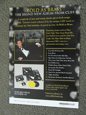 Cliff Richard  Bold as brass album flyer
