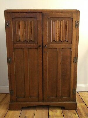 art deco gentlemans wardrobe, small wardrobe.