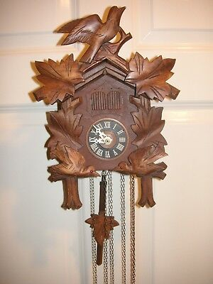 Old Collectible Cuckoo Clock Many Functions. Music Box Etc. Working Order.