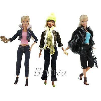 Barwa 3 Sets Fashion Casual Wear Clothes/outfit for Barbie Doll Xmas Gift