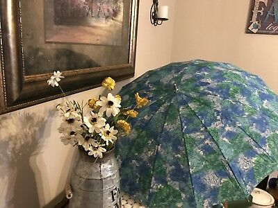 GLORIOUS WATER COLORS / VINTAGE UMBRELLA  - With Original Bag from Purchase