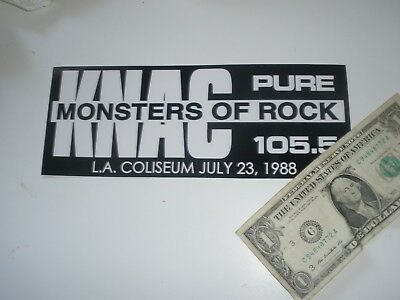 knac pure rock 105.5 sticker