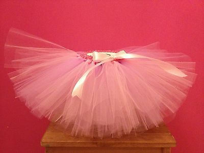 Pink & Lilac Tulle Tutu (Approx 6-18 Months) cake Smash Outfit