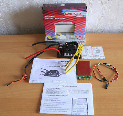 Kontronik Power Jazz 63 V + ProgCARD Anleitung Inclusive