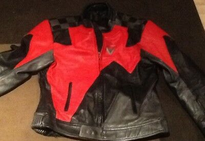 frank thomas size 44 black/red leather jacket in great order!!